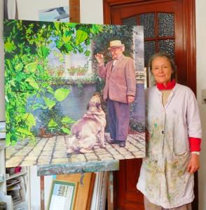 Anne et le tableau son père
