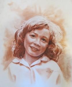 Petite fille aux yeux rêveurs